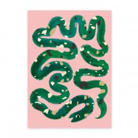ANNY WHO | SNAKE PRINT | アートプリント/ポスター (50x70cm)