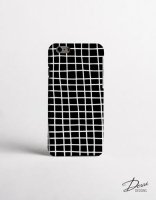 【ネコポス送料無料】DESSI DESIGNS | CROSS STRIPES / GRID (black) | iPhone 8ケース