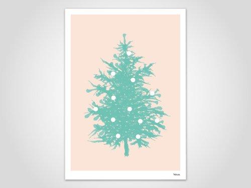 banum christmas tree print a3 アートプリント ポスター hafen