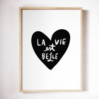 THE LOVE SHOP | LA VIE EST BELLE | A3 アートプリント/ポスター