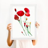 THE CLAY PLAY | RED POPPIES ART PRINT (no.399) | A3 アートプリント/ポスターの商品画像