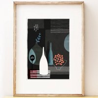 SHAPE COLOUR PATTERN | Night Hours I - abstract still life art | A3 アートプリント/ポスター