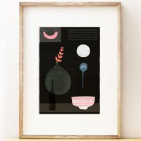SHAPE COLOUR PATTERN | Night Hours II - abstract still life art | A3 アートプリント/ポスターの商品画像