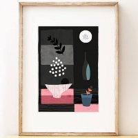 SHAPE COLOUR PATTERN | Night Hours III - abstract still life art | A3 アートプリント/ポスター