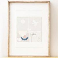 SHAPE COLOUR PATTERN | Morning Flight - contemporary still life art | A3 アートプリント/ポスターの商品画像