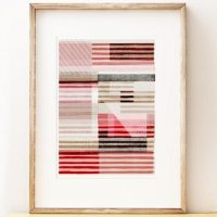 SHAPE COLOUR PATTERN | Lined - stripy abstract art | A3 アートプリント/ポスター