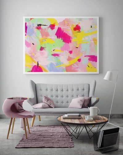 LOVELY POSTERS | COLORFUL PAINT ART P...