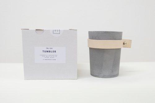 CONCRETE RAW   concrete pot - pen holder - planter (black)   コンクリート・ポット