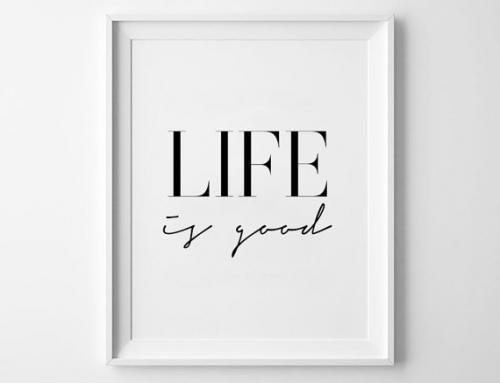 MOTTOS PRINT | LIFE IS GOOD | A3 アー...