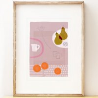 SHAPE COLOUR PATTERN | Still Life with Yellow Pears - contemporary art | A3 アートプリント/ポスター