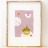 SHAPE COLOUR PATTERN | Still Life with Pink Pear - contemporary art | A3 アートプリント/ポスター