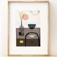 SHAPE COLOUR PATTERN | still life art print 'Stillness 2' - contemporary art | A3 アートプリント/ポスター