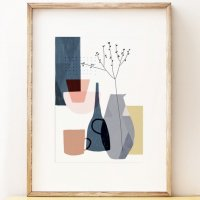 SHAPE COLOUR PATTERN | still life art print 'Stillness 1' - contemporary art | A3 アートプリント/ポスター