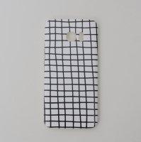 DESSI DESIGNS | CROSS STRIPES / GRID (white) | Galaxy S7 Edgeケースの商品画像