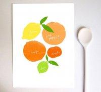 【ネコポス送料無料】ANEK | Citrus Love print | A4 アートプリント/ポスター【北欧 カフェ レストラン インテリア おしゃれ】の商品画像