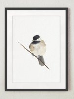 COLOR WATERCOLOR | Chickadee Art Print | A3 アートプリント/ポスター