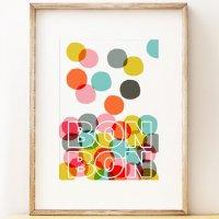 SHAPE COLOUR PATTERN   Bon Bon   A3 アートプリント/ポスターの商品画像