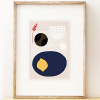 SHAPE COLOUR PATTERN | Modern art print 'Kettle's Yard Lemon' | A3 アートプリント/ポスター