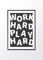 PROJECT NORD | PLAY HARD | アートプリント/ポスター (50x70cm)の商品画像