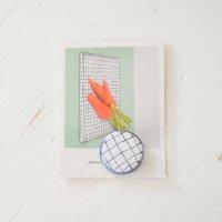 MARIANNE HALLBERG (マリアンヌ・ハルバーグ) | 缶バッジ小 | チェックの商品画像
