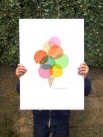 ANEK   Mi piace gelato - Ice cream print   アートプリント/ポスター (50x70cm)【北欧 カフェ レストラン インテリア おしゃれ】の商品画像