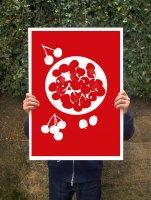 【オーダーメイド】ANEK   Bowl of cherries Poster   アートプリント/ポスター (50x70cm)【北欧 カフェ レストラン インテリア おしゃれ】の商品画像
