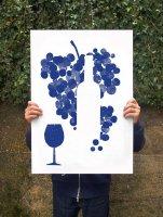 【オーダーメイド】ANEK   Red Wine Poster   アートプリント/ポスター (50x70cm)【北欧 カフェ レストラン インテリア おしゃれ】の商品画像