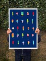 【オーダーメイド】ANEK   Ice Cream Heaven Poster   アートプリント/ポスター (50x70cm)【北欧 カフェ レストラン インテリア おしゃれ】の商品画像