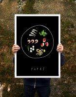 【オーダーメイド】ANEK   Tapas Spanish food Kitchen Poster   アートプリント/ポスター (50x70cm)【北欧 カフェ レストラン インテリア おしゃれ】の商品画像