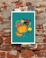 【オーダーメイド】ANEK   Autumn Harvest Poster   アートプリント/ポスター (50x70cm)【北欧 カフェ レストラン インテリア おしゃれ】の商品画像