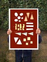 【オーダーメイド】ANEK   Cheese Chart Kitchen Poster   アートプリント/ポスター (50x70cm)【北欧 カフェ レストラン インテリア おしゃれ】の商品画像