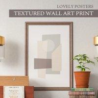 LOVELY POSTERS | TEXTURED WALL ART PRINT | A3 アートプリント/ポスター 北欧 シンプル おしゃれ シンプル おすすめ かっこいい 人気  の商品画像