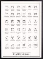 Kunskapstavlan (クンスカップスターブラン) | Washing Symbols (洗濯表示) | アートプリント/ポスター (30x40cm)の商品画像
