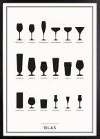 Kunskapstavlan (クンスカップスターブラン) | Glass (グラス) | アートプリント/ポスター (30x40cm)の商品画像