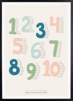 Kunskapstavlan (クンスカップスターブラン) | Multiplikation (掛け算) | アートプリント/ポスター (30x40cm)の商品画像