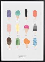 Kunskapstavlan (クンスカップスターブラン) | Colors (カラー) | アートプリント/ポスター (30x40cm)の商品画像