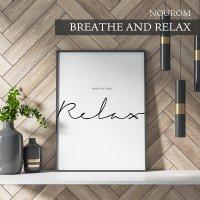 NOUROM | BREATHE AND RELAX | アートプリント/ポスター (50x70cm) 北欧 シンプル ミニマル インテリア おしゃれの商品画像