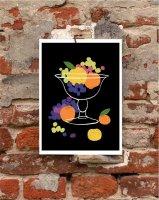 【オーダーメイド】ANEK   Still Life - Grapes & Lemons and Oranges   アートプリント/ポスター (50x70cm)【北欧 インテリア おしゃれ】の商品画像