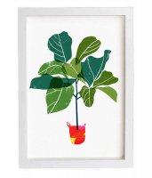 ANEK   Fiddle Leaf Fig Tree - Tropical leaf print   アートプリント/ポスター (50x70cm)【北欧 インテリア おしゃれ】の商品画像