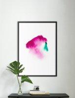【オーダーメイド】NOUROM | WATERCOLOR DROPS #4 | アートプリント/ポスター (50x70cm)の商品画像