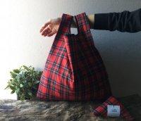 【ネコポス送料無料】ATELIER SETTEMBRE   TOTE BAG (red tartan #2)   トートバッグ/ショッピングバッグの商品画像