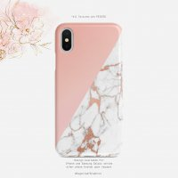 【ネコポス送料無料】SUGARLOAF GRAPHICS | ROSE GOLD MARBLE | iPhone XRケース