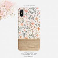 【ネコポス送料無料】SUGARLOAF GRAPHICS | BOHO FLORAL LEAF | iPhone X/XSケース