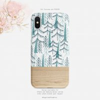 【ネコポス送料無料】SUGARLOAF GRAPHICS | WOODLAND GREEN PINE TREE | iPhone X/XSケース