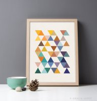 LATTE DESIGN | Triangles 6 print | A3 アートプリント/ポスター