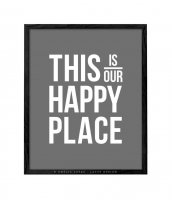 LATTE DESIGN   This is our happy place print   A3 アートプリント/ポスターの商品画像