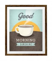 LATTE DESIGN | Good morning sunshine print | A3 アートプリント/ポスター