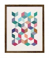 LATTE DESIGN   Geometric 5 print   A3 アートプリント/ポスターの商品画像