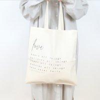 【ネコポス送料無料】EVER AFTER BLESSINGS   LOVE NEVER FAILS TOTE BAG (black and white)   トートバッグ/ショッピングバッグの商品画像