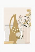 MICUSH | POTTERY AND FLOWERS (CLOSE UP) ART PRINT (blush) | アートプリント/ポスター (30x40cm)